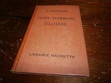 Livre scolaire Petite Grammaire italienne année 1947