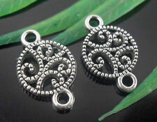 30Pcs Tibetan Silver Flower Connectors Findings 16x11mm (Lead-free)
