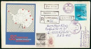 Mayfairstamps Russia 1989 Penguin Pictorial Cancel Registered Antarctic Cover ww