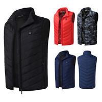 Electric Battery Heating USB Sleeveless Vest Winter Heated Outdoor Jacket Men