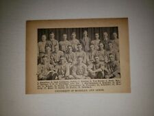 University of Michigan Carl Lundgren 1920 Baseball Team Picture RARE!