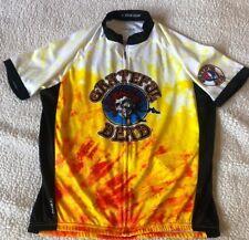 Primal Wear Cycling Jersey  Grateful Dead  Full Zip Men's L 3 Pocket Back
