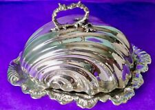 Liberty & Co British Silver Plated Large Shell Shaped Butter/Cheese Dish