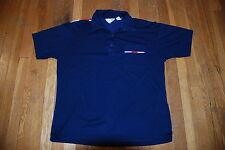Vintage ROYALE-AIR 80s Mafia navy blue red white short sleeve Mens polo shirt XL