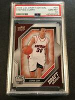 STEPHEN CURRY 2009 UPPER DECK #40 DRAFT EDITION ROOKIE RC PSA 10 WARRIORS