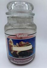 Yankee Candle black band Christmas Eve large housewarmer 22 oz vintage