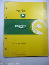 John Deere 2 & 3 Row Crops Om-E75682 J5 Operators Manual