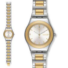 orologio swatch irony orologio acciaio donna you my time nuovo da collezione new