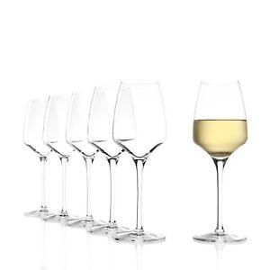 Stölzle Lausitz Weingläser Weißweingläser 350ml Kristallglas 6er Set Weingläser