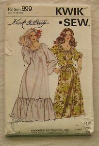 Vintage Dress Sewing Pattern*Kwik Sew 899*Size 14-20*loose*BOHO*plus size*ruffle