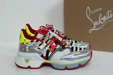 New sz 7.5. / 38 Christian Louboutin Red Runner Pull on Sneaker Shoes