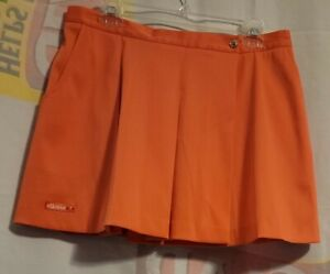 Ellesse Tennis Skirt Vintage Womens Coral Wrap Size 14W Made in USA