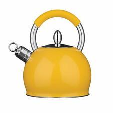 Premier Housewares Whistling Kettle, 2.4 Litre - YELLOW