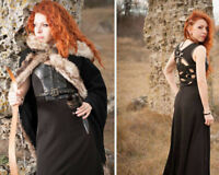 Viking costume / Larp costume / Game of Thrones inspired dress and cape