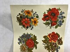 Ceramic decals autumn floral bouquets 4 different patterns Lot of 20