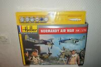 COFFRET 4 MAQUETTES NORMANDY AIR WAY HELLER 1/72 NEUF FOWCKE  MUSTANG + PEINTURE