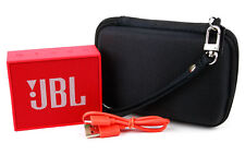 Black Water-Resistant Hard Case with Ultra-Soft Lining for the JBL GO Speaker