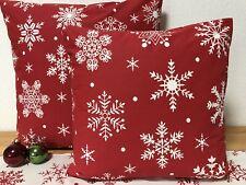 1x Landhausstil Kissenhülle*Kissenbezug* Weihnachten * rot/weiß 40x40