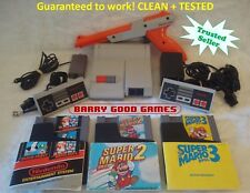 Nintendo NES ORIGINAL TOP LOADER Console System Bundle Super Mario 1 2 3 Zapper