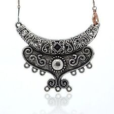 2pc Tibetan Fashion DIY Chandelier Component Link Necklace Moon TIBE-M001-119
