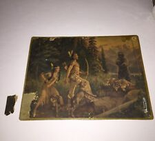 """CHALLENGED""  WALTER HASKELL HINTON LITHO BEAR CHALLENGES BRAVE FOR HIS DEER"