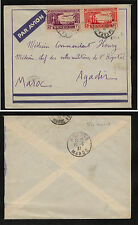 Senegal   C2,C3  on cover to  Morocco           SS0329