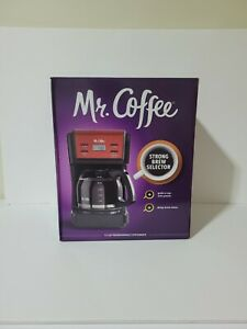 Mr. Coffee 12 Cup Programmable Coffee Maker, Black& Silver or Red