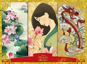 Disney Jigsaw Puzzle 800 Pieces Mulan Warrior Woman with Flowers Bug and Dragon