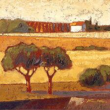 Karsten Kirchner: Villa Gusto Leinwand-Bild 20x20 Wandbild Toskana Landschaft