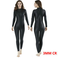 WOMEN 3mm CR Triathlon wetsuit Ultra Elastic Leather Smooth skin Full wetsuits