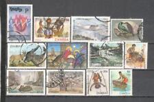 S6691 - ZAMBIA  - LOTTO 12 TEMATICI DIFFERENTI - VEDI FOTO