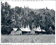 1970 Minangkabau Village House West Sumatra Press Photo