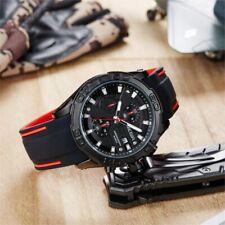 Megir BIG FACE Wrist Watch Mens Quartz Chronograph Black Silicone Band 2055