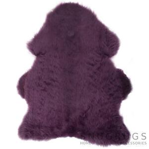 Genuine Super Thick Wool Coloured Sheepskin Rug / Skin 19 Colours / 3 Sizes