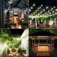 Solar Powered 50 LED String Light Garden Path Yard Decor Lamp Outdoor Waterproof