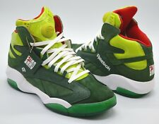 VNDS Reebok Pump Shaq Attaq 1 Ghost of Christmas Present Green/White/Red Grinch