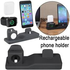 3 in1 Charging Stand Dock Station Holder For Apple Airpods iPhone 6 7 8 X 8Plus