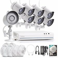Funlux 1080p 8CH HDMI NVR 720p Outdoor Camera System Video Home Security 1TB HDD