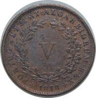Portugal V Reis 1878 Cooper D Luiz I km#513 CX1