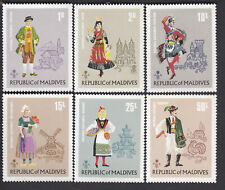 MALDIVES NATIONAL COSTUME OF HUNGARY SPAIN AUSTRIA NORWAY 6v FINE MNH - KS5165