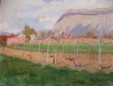 Joseph MICOT (1891-1981) HsP 1965 Ecole provençale Les Alpilles Impressionnisme