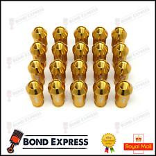 GOLD D1SPEC Light Weight Billet Racing Wheel Lug Nut Nuts M12x1.5 - UK Stock