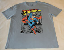 DC Comics Superman Mens Steel Blue Printed Short Sleeve T Shirt Size XL New