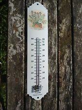 THERMOMETRE EMAILLE 30 Cm PLANTE EN  POT NEUF EMAIL 800°C FAB EN FRANCE AFFAIRE!