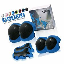 Crzko Kids Protective Gear, Knee Pads and Elbow Pads 6 in 1 Set with Wrist Gu.