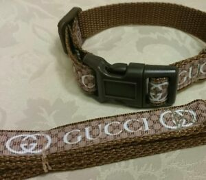 """Bespoke DOG COLLAR AND LEAD 10""""-14"""" neck  ** FREE CHOICE OF OVER 27 FABRICS**"""