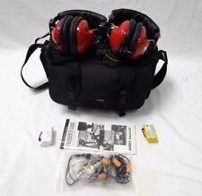 RaceTRAC RT-40 HEADPHONES PORTABLE RACING HEADPHONES WITH CASE
