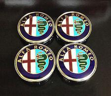 Wheel Center Caps 60mm Badge Set 4pcs Alfa Romeo