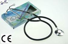 Single Head Stethoscope Black, Medical, Students, Nurses, EMT, CE - Brand New