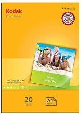 Kodak 5740512 -  A4 Gloss 20 Sheets UK DISPATCH 24 HOURS